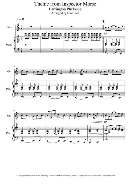 theme from inspector morse sheet music pdf download - sheetmusicdbs.com  download sheet music and notes in pdf format