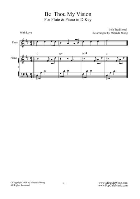 be thou my vision flute and piano romantic version sheet music pdf download  - sheetmusicdbs.com  download sheet music and notes in pdf format
