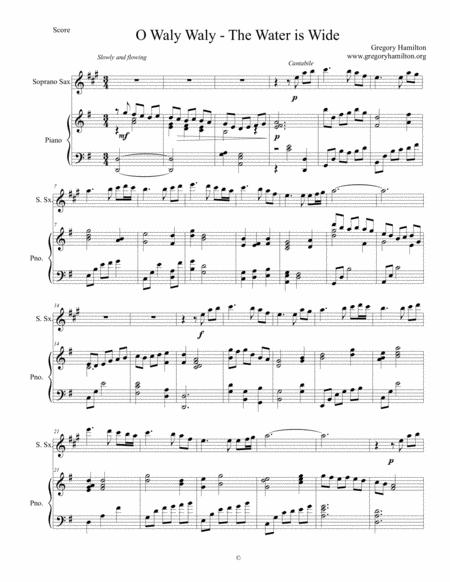 o waly waly the wather is wide for soprano sax and piano sheet music pdf  download - sheetmusicdbs.com  download sheet music and notes in pdf format