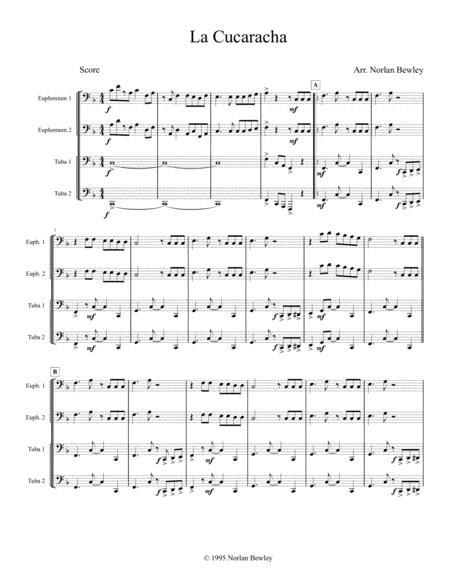 la cucaracha tuba euphonium quartet sheet music pdf download -  sheetmusicdbs.com  download sheet music and notes in pdf format