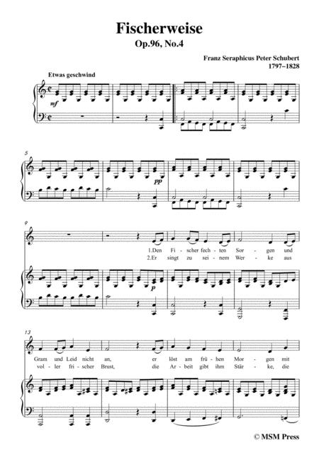 schubert fischerweise in c major op 96 no 4 for voice and piano sheet music  pdf download - sheetmusicdbs.com  download sheet music and notes in pdf format