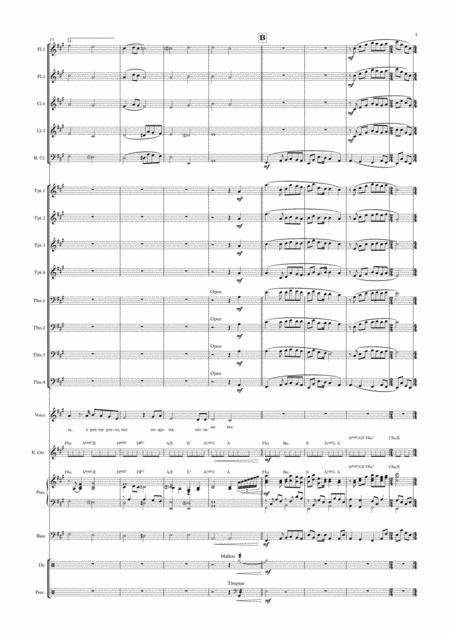 se love theme from cinema paradiso female vocal with big band key of a sheet  music pdf download - sheetmusicdbs.com  download sheet music and notes in pdf format