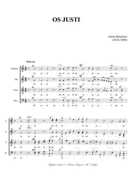os justi wab 30 a bruckner for ssaattbb choir sheet music pdf download -  sheetmusicdbs.com  download sheet music and notes in pdf format