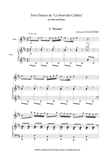 germaine tailleferre trois danses de la nouvelle cythre for flute and piano  sheet music pdf download - sheetmusicdbs.com  download sheet music and notes in pdf format