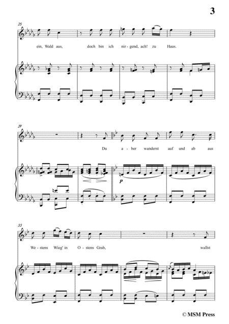 schubert der wanderer an den mond op 80 in b flat minor for voice piano  sheet music pdf download - sheetmusicdbs.com  download sheet music and notes in pdf format
