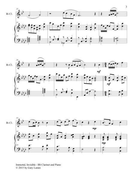 immortal invisible duet bb clarinet and piano score and parts sheet music  pdf download - sheetmusicdbs.com  download sheet music and notes in pdf format