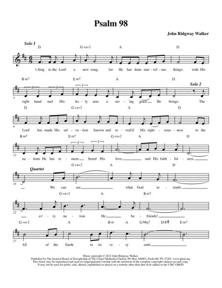 sing to the lord a new song psalm 98 sheet music pdf download -  sheetmusicdbs.com  download sheet music and notes in pdf format