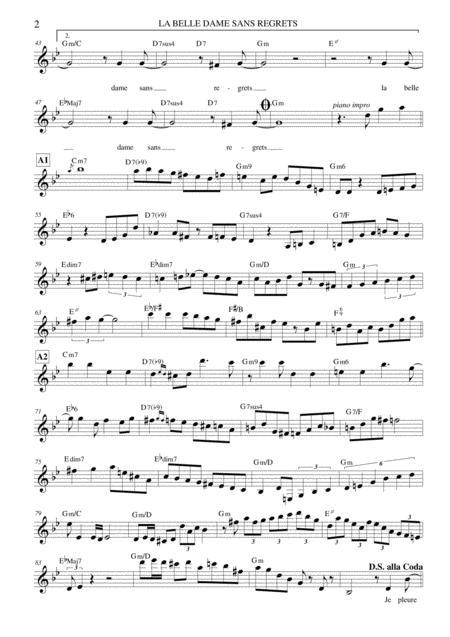 la belle dame sans regrets sheet music pdf download - sheetmusicdbs.com  download sheet music and notes in pdf format
