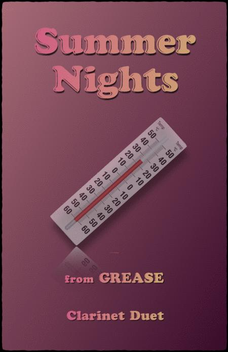 summer nights from grease for clarinet duet sheet music pdf download -  sheetmusicdbs.com  download sheet music and notes in pdf format