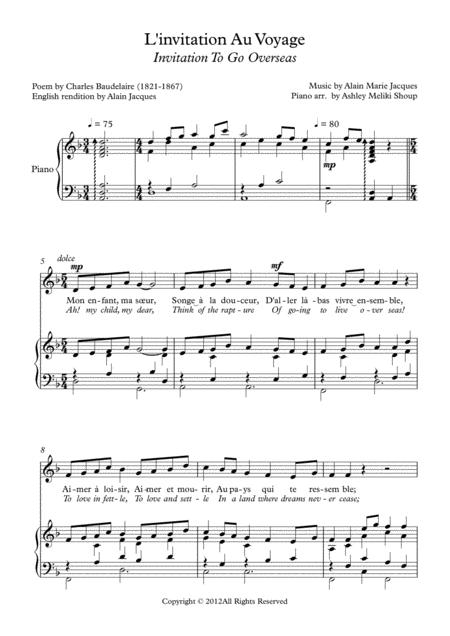 l invitation au voyage baudelaire sheet music pdf download -  sheetmusicdbs.com  download sheet music and notes in pdf format