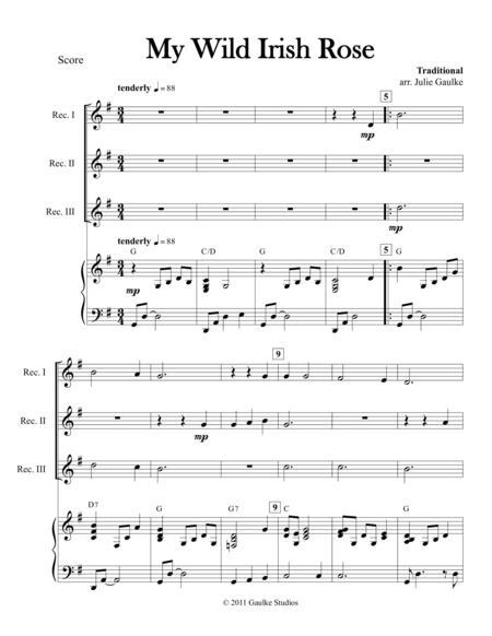 my wild irish rose sheet music pdf download - sheetmusicdbs.com  download sheet music and notes in pdf format