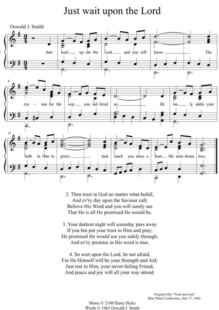 just wait upon the lord a new tune to this wonderful oswald smith poem  sheet music pdf download - sheetmusicdbs.com  download sheet music and notes in pdf format
