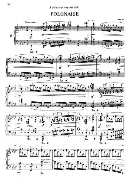 chopin polonaise in a flat major op 53 sheet music pdf download -  sheetmusicdbs.com  download sheet music and notes in pdf format