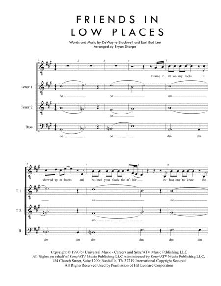friends in low places sheet music pdf download - sheetmusicdbs.com  download sheet music and notes in pdf format
