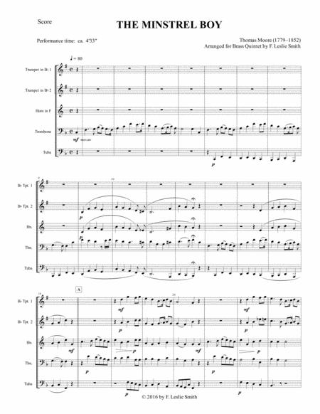 the minstrel boy the moreen the son of god goes forth to war one in jesus  sheet music pdf download - sheetmusicdbs.com  download sheet music and notes in pdf format