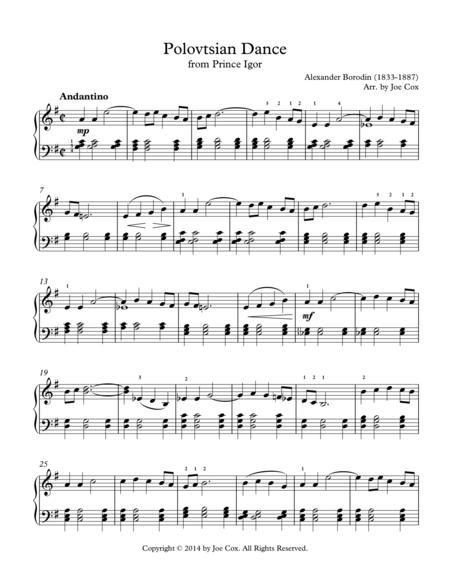 polovtsian dance sheet music pdf download - sheetmusicdbs.com  download sheet music and notes in pdf format