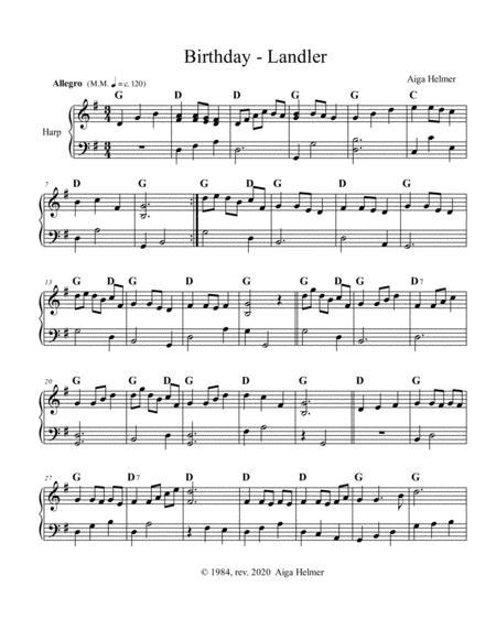 birthday landler sheet music pdf download - sheetmusicdbs.com  download sheet music and notes in pdf format