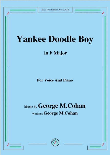 george m cohan yankee doodle boy in f major for voice and piano sheet music  pdf download - sheetmusicdbs.com  download sheet music and notes in pdf format