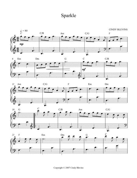 sparkle an original solo for lever or pedal harp from my harp book  hourglass sheet music pdf download - sheetmusicdbs.com  download sheet music and notes in pdf format