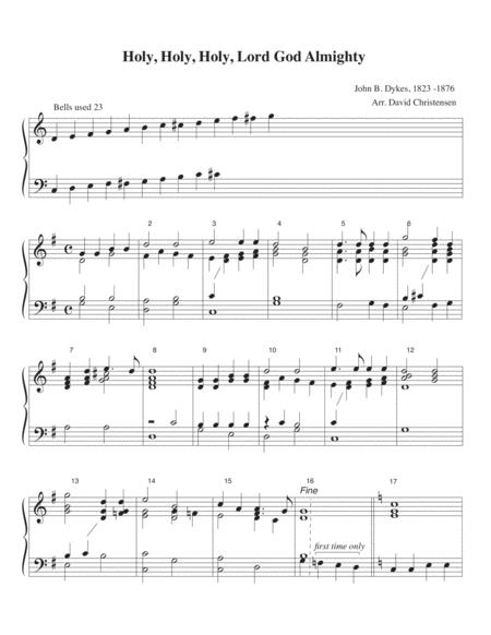holy holy holy lord god almighty sheet music pdf download -  sheetmusicdbs.com  download sheet music and notes in pdf format