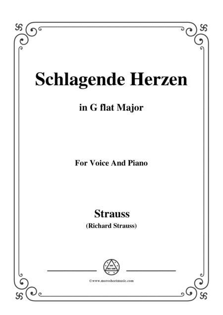 richard strauss schlagende herzen in g flat major for voice and piano sheet  music pdf download - sheetmusicdbs.com  download sheet music and notes in pdf format