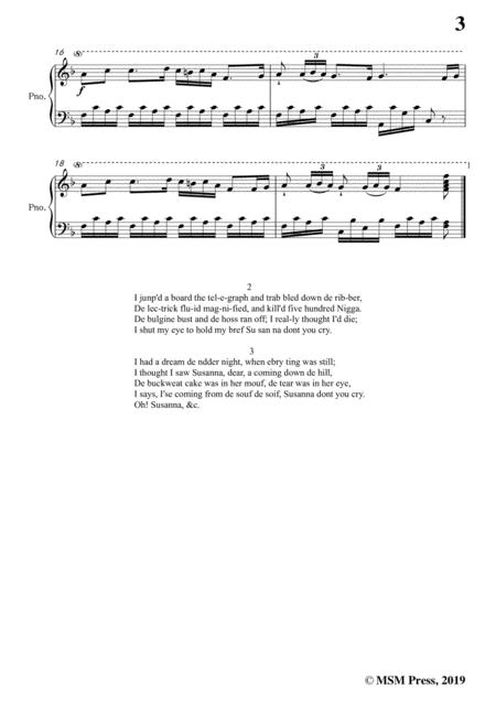 stephen collins foster oh susanna in f major for voice and piano sheet music  pdf download - sheetmusicdbs.com  download sheet music and notes in pdf format