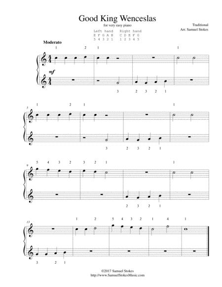 good king wenceslas for very easy piano sheet music pdf download -  sheetmusicdbs.com  download sheet music and notes in pdf format