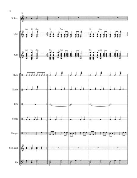 sairi del ande folk song from bolivia arranged for orff ensemble sheet music  pdf download - sheetmusicdbs.com  download sheet music and notes in pdf format