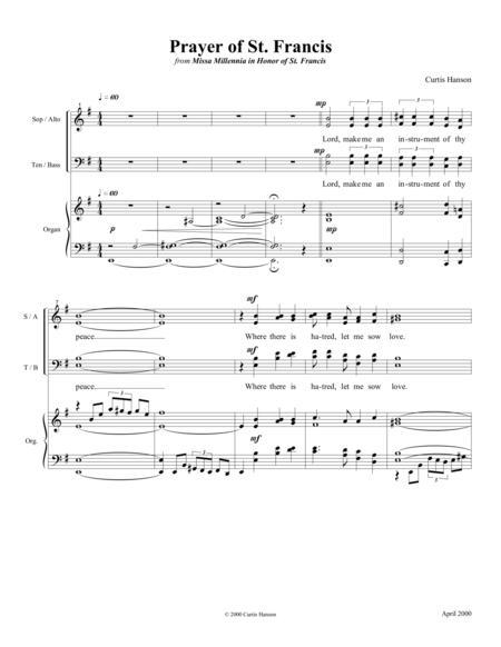 prayer of st francis satb sheet music pdf download - sheetmusicdbs.com  download sheet music and notes in pdf format