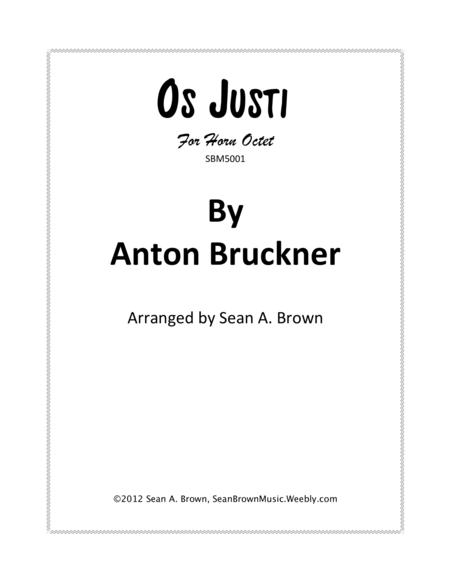 os justi by anton bruckner arr for 8 horns sheet music pdf download -  sheetmusicdbs.com  download sheet music and notes in pdf format