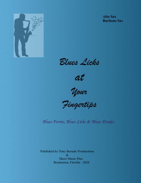 blues licks at your fingertips for alto sax baritone sax sheet music pdf  download - sheetmusicdbs.com  download sheet music and notes in pdf format