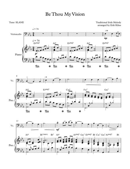 be thou my vision cello piano duet sheet music pdf download -  sheetmusicdbs.com  download sheet music and notes in pdf format
