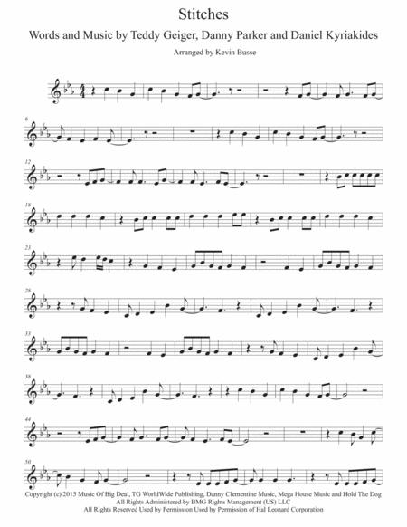 stitches original key clarinet sheet music pdf download - sheetmusicdbs.com  download sheet music and notes in pdf format
