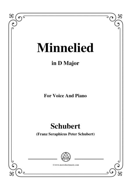 schubert minnelied in d major for voice piano sheet music pdf download -  sheetmusicdbs.com  download sheet music and notes in pdf format