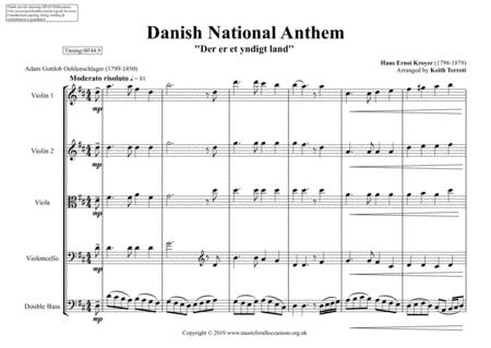danish national anthem for string orchestra mfao world national anthem  series sheet music pdf download - sheetmusicdbs.com  download sheet music and notes in pdf format