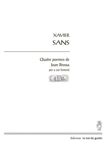 quatre poemes de joan brossa sheet music pdf download - sheetmusicdbs.com  download sheet music and notes in pdf format