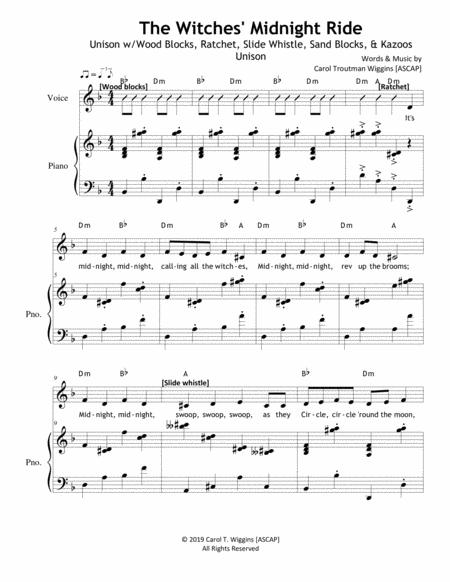 the witches midnight ride sheet music pdf download - sheetmusicdbs.com  download sheet music and notes in pdf format