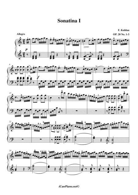 kuhlau sonatina op 20 no 3 sheet music pdf download - sheetmusicdbs.com  download sheet music and notes in pdf format