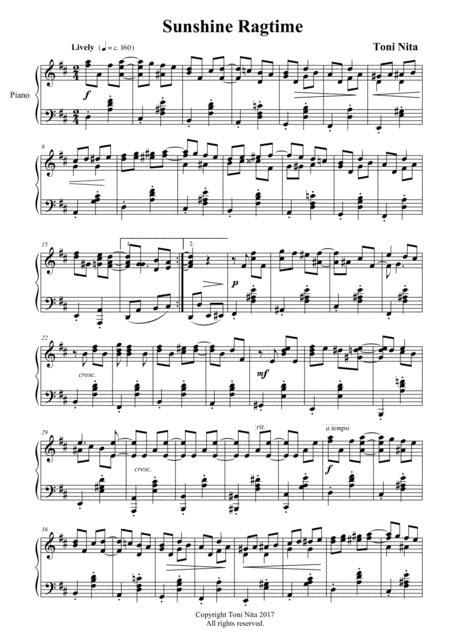 sunshine ragtime sheet music pdf download - sheetmusicdbs.com  download sheet music and notes in pdf format