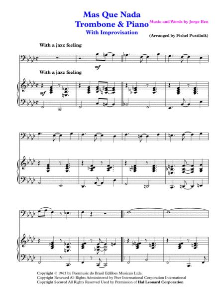 mas que nada for trombone and piano jazz pop version with improvisation  sheet music pdf download - sheetmusicdbs.com  download sheet music and notes in pdf format
