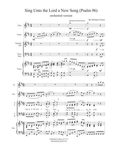 sing unto the lord a new song psalm 96 sheet music pdf download -  sheetmusicdbs.com  download sheet music and notes in pdf format