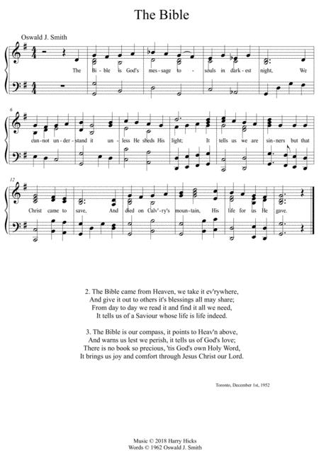 the bible is gods message a new tune to a wonderful oswald smith poem sheet  music pdf download - sheetmusicdbs.com  download sheet music and notes in pdf format