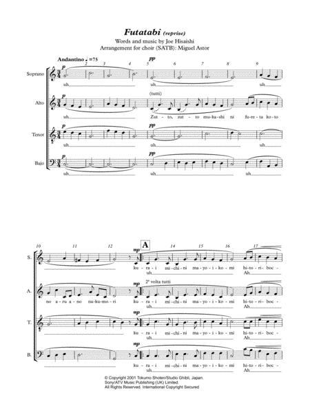 futatabi reprise sheet music pdf download - sheetmusicdbs.com  download sheet music and notes in pdf format