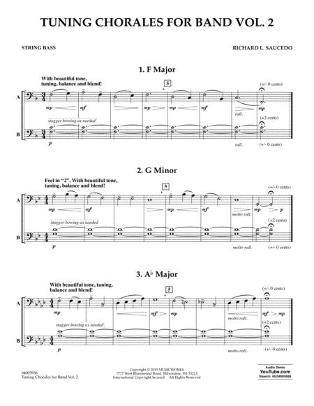 tuning chorales for band volume 2 string bass sheet music pdf download -  sheetmusicdbs.com  download sheet music and notes in pdf format