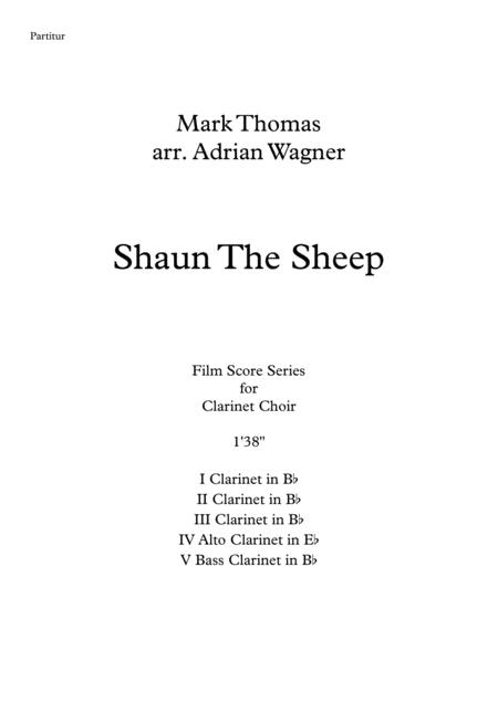shaun the sheep clarinet choir arr adrian wagner sheet music pdf download -  sheetmusicdbs.com  download sheet music and notes in pdf format