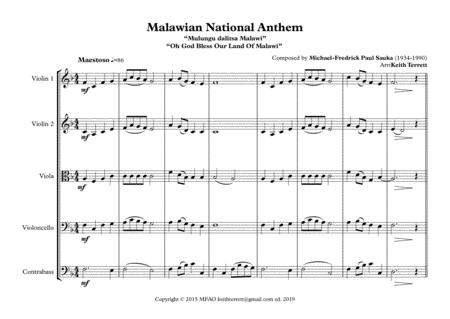 malawian national anthem for string orchestra mfao world national anthem  series sheet music pdf download - sheetmusicdbs.com  download sheet music and notes in pdf format