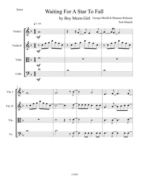 waiting for a star to fall sheet music pdf download - sheetmusicdbs.com  download sheet music and notes in pdf format