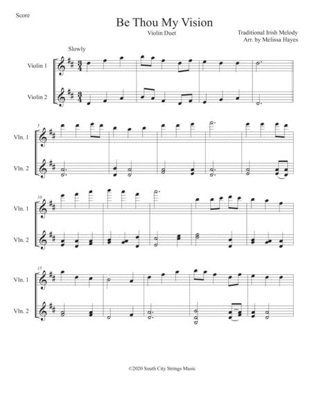 be thou my vision for two violins sheet music pdf download -  sheetmusicdbs.com  download sheet music and notes in pdf format