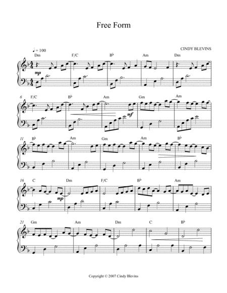 free form an original solo for lever or pedal harp from my harp book  hourglass sheet music pdf download - sheetmusicdbs.com  download sheet music and notes in pdf format