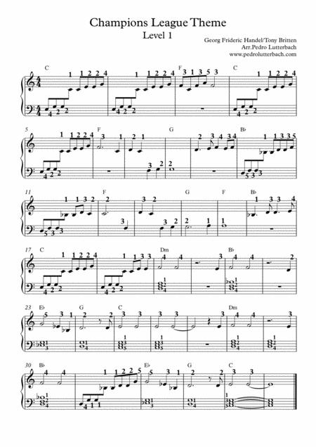 uefa champions league theme sheet music pdf download - sheetmusicdbs.com  download sheet music and notes in pdf format